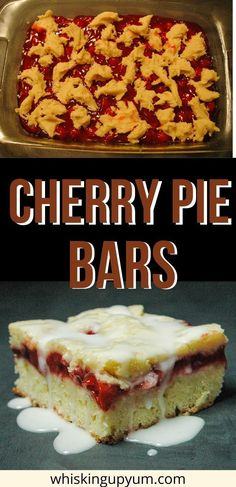 This Cherry Pie Bar recipe is made using cherry pie filling sandwiched between a shortbread flavored cookie dough. I love that it is so easy to throw together. | Cherry Pie bars easy | Cherry Pie bar recipe | cherry pie bars for a crowd | Easy dessert | Cherry pie recipe | Christmas bars | Christmas dessert easy | pie bars | pie bars recipe | pie bars easy | easy bar recipe | easy bars recipe | bars recipes | bars recipes easy | bars recipes for a crowd | bars recipes easy simple