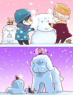 Image uploaded by Şħouŧo. Find images and videos about anime, yuri and yuri on ice on We Heart It - the app to get lost in what you love. Anime Meme, Otaku Anime, Anime Chibi, Kawaii Anime, Yuri On Ice Comic, Yuuri Katsuki, ユーリ!!! On Ice, Familia Anime, Yuri Plisetsky