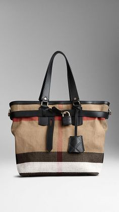 Canvas Check Traveller Bag | Burberry