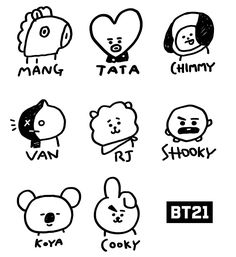 Undying Lessons How To Draw Bts Easy 2019 - Moyiki Sites Bts Chibi, Bts Bangtan Boy, Bts Jimin, Bts Tattoos, Tatoos, Bts Drawings, Line Friends, Drawing Challenge, Bts Fans