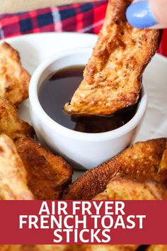 Homemade Air Fryer French Toast Sticks are so easy and delicious! Eat them fresh or freeze and reheat later for a quick breakfast! Brunch Recipes, Breakfast Recipes, Breakfast Ideas, Dinner Recipes, Homemade French Toast, Brunch Items, French Toast Sticks, Fast Healthy Meals, Healthy Eating