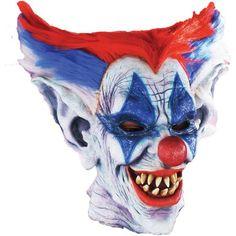 Outta Control Clown Mask Halloween Accessory