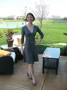 Wrap Dress with pattern available in size 34.