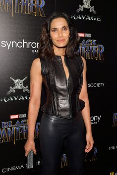 """Padma Lakshmi Photos - TV personality Padma Lakshmi attends the screening of Marvel Studios' """"Black Panther"""" hosted by The Cinema Society on February 2018 in New York City. - The Cinema Society Hosts a Screening of Marvel Studios' 'Black Panther' Lakshmi Photos, Padma Lakshmi, The Emmys, February 13, Some Girls, Studio S, Celebs, Celebrities, Girl Model"""