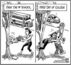 1st Day of School v's 1st Day of College