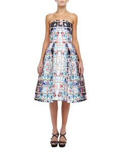 Mary Katrantzou Floral Grid Nevis Strapless Dress http://mylovedoutfit.tumblr.com/post/84723957076/mary-katrantzou-floral-grid-nevis-strapless-dress