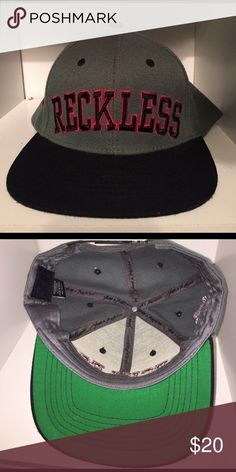 Young and reckless SnapBack Grey black and red accented Young and Reckless SnapBack hat Young & Reckless Accessories Hats