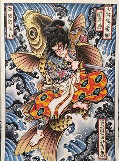 Tatoo Designs, Japanese Tattoo Designs, Japanese Tattoo Art, Japanese Sleeve Tattoos, Japanese Art, Old Men With Tattoos, Old Tattoos, Asian Tattoos, Japan Tattoo