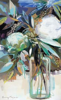 still life paintings - paintings by erin fitzhugh gregory Art Floral, Abstract Flowers, Botanical Art, Love Art, Painting Inspiration, Art Projects, Illustration Art, Canvas Art, Amazing Art