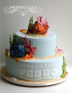 Nemo and Dory cake/ Bolo de Nemo e Dory
