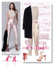 """""""I Wear Pink"""" by beleev ❤ liked on Polyvore featuring Mara Hoffman, Yves Saint Laurent, Ted Baker, MSGM, Bling Jewelry and IWearPinkFor"""