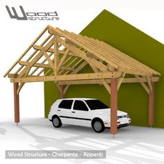 Rustic carport images google search for the home for Fabricant garage bois en kit
