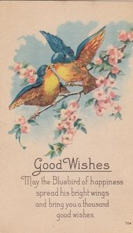 Blue Bird / Happiness Vintage.  My Mom loves to use this phrase.........