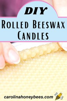 Rolled beeswax candles are super easy to make and they look so elegant.  A great gift idea too.  #carolinahoneybees #rolledbeeswaxcandles #homemadegifts