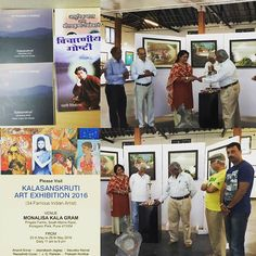 Lovely evening at #opening of #exhibition showcasing works of top 34 artists from #Maharashtra #india at @monalisakalagram in #pune #koregaonpark #theartandcraftgallery #untacg