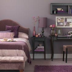 Purple room decor items - home design inspiration Mauve Bedroom, Bedroom Decor, Bedroom Ideas, Bedroom Office, Silver Bedroom, Wall Decor, Murs Violets, Lavender Room, Lavender Bedrooms