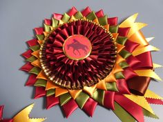 Fall color rosettes from Regal Rosettes of Florida