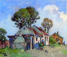 Sold | Theys, Conrad | Cottage in the bush | Pastel on paper | Code : 9230 | Size : 265x315mm