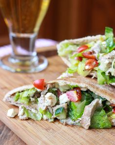 Greek Chicken Salad Pita Pockets | 23 Easy And Inexpensive Meals You Can Make With Pita Bread