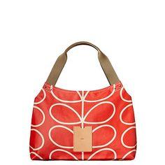 Orla Kiely Classic Shoulder Bag - Giant Linear Stem Print