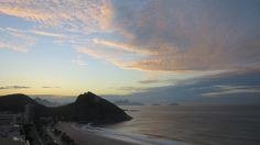 Dawn at Copacobana Beach, Rio de Janeiro Brazil Travel, How To Memorize Things, Mountains, Places, Nature, Rio De Janeiro, Naturaleza, Natural, Scenery