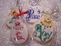 Galletas de Navidad / stencil / fondant