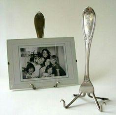 Для дома своими руками. Красивая, винтажная и необычная подставка для фото или тарелок из простой вилки.