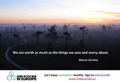 Ecocide is the extensive damage to, destruction of or loss of ecosystems. Let's End Ecocide In Europe! GO TO http://www.endecocide.eu/ Sign and invite your friends!