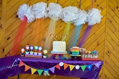 rainbow, colors Birthday Party Ideas | Photo 16 of 46 | Catch My Party