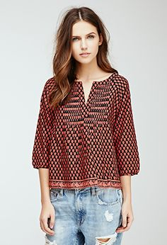 Floral Print Top | FOREVER21 - 2000055795