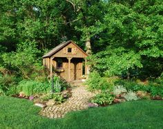 Small Rustic Wooden Garden Shed
