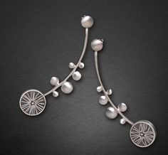Carla Pennie Jewelry Design – Earrings – Silver Star Earrings