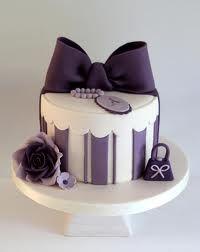 Hat box, present cake. Fondant bow.