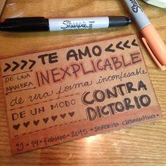 ***Te amo... #señoritaClementinadelAmor #love #quotes #lettering