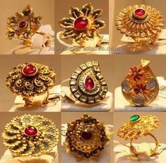 Gold Ring Designs, Gold Earrings Designs, Gold Jewellery Design, Ring Design For Female, Royal Rings, Antique Gold Rings, Rajputi Jewellery, Gold Finger Rings, Gold Rings Jewelry