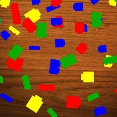 100 Die Cut Lego Confetti