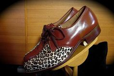 1950's men's leopard print shoe