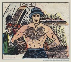 Taken out of context, these comic book strips are full of innuendo and smut. H/T Mitch O'Connell.