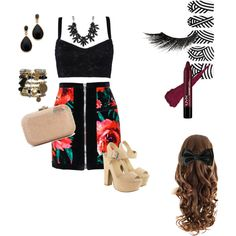 skirt by laura-booth-1 on Polyvore featuring polyvore fashion style Dolce&Gabbana Balmain Lipsy Judith Leiber Kenneth Jay Lane sweet deluxe Cat Hammill Illamasqua