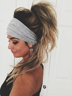 As seen on Teen Mom 2s Chelsea Houska! ??? Made From Cotton/ Jersey Mix Fabric ??? Super Soft & Stretchy & Made to fit any size head ??? Perfect for college days, late days, bad hair days, summer days, cold days, lazy days ??? Wear it as an Extra Wide sty (lazy day hairstyles head scarfs)
