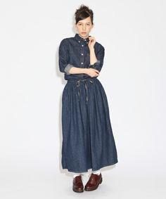BEAMS BOYの【予約】orSlow / ギャザー デニムスカートです。こちらの商品はBEAMS Online Shopにて通販購入可能です。