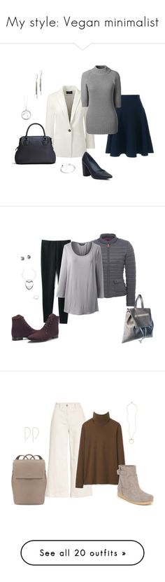 """""""My style: Vegan minimalist"""" by asuitcaseheart ❤ liked on Polyvore featuring Lands' End, plus size clothing, Everlane, Me to We, Fabi, STELLA McCARTNEY, Olsen, Beyond Skin, tops and t-shirts"""