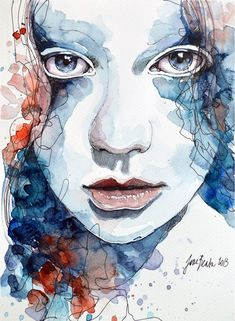 Roses - Watercolor Portraiture Paintings by Jane Beata  <3 <3