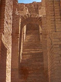 NIPPUR - Escalier menant au Temple d'Enlil