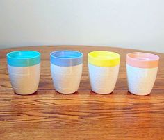 Color tipped tumblers