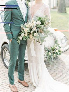 Wedding Suits 25 Colorful Groom Attire Ideas For A Statement Green Wedding Suit, Sage Green Wedding, Green Sage, Best Man Outfit Wedding, Wedding Suits For Groom, Green Weddings, Blue Green, Groom And Groomsmen Attire, Groom Outfit