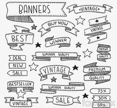 20 promotional hand-painted Ribbon banner vector diagrams