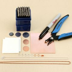 Metal stamping kit... I so want this. I just need less stuff or more room.