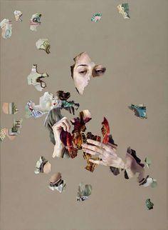 Agnes Toth, Empathy, 2010 110 x 85 cm Öl auf Leinwand, Heitsch Gallery - contemporary art Ap Studio Art, Art And Illustration, Animal Illustrations, Illustrations Posters, Collages, Collage Art, Art Alevel, Kunst Online, Photocollage