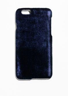 & Other Stories Velvet iPhone 6 Case in Blue